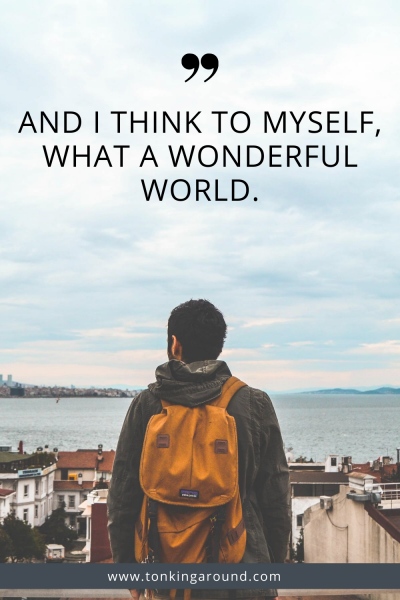 And i think to myself, what a wonderful world.