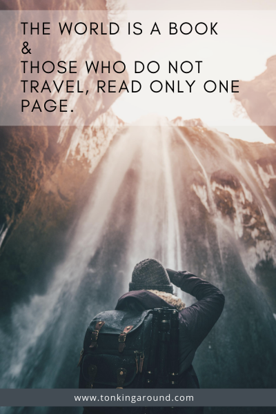 THE WORLD IS A BOOK AND THOSE WHO DO NOT TRAVEL, READ ONLY PONE PAGE