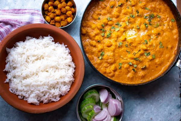 Traditional chole tikka masala recipe. Indian chole tikka masala recipe, traditionally served with basmati rice
