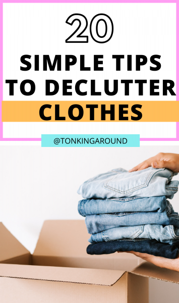 Do you want to declutter your wardrobe but have no ideas where to begin? These 20 decluttering tips will help!