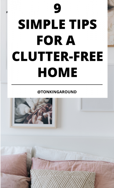 Wondering how to always have a clean and clutter free home? These simple tips and habits will help you maintain a clutter free home.